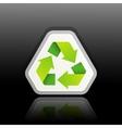 a green recycle symbol vector image vector image