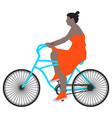 a spring walk woman cyclist vector image vector image