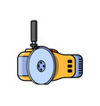angle grinder construction electric tool vector image