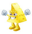 angry cheese man vector image vector image