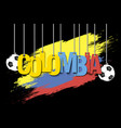 banner the inscription colombia vector image vector image