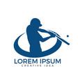 baseball player logo design vector image vector image