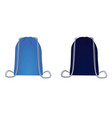 blue backpack bag set vector image vector image