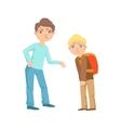 Boy Exorting Money From Weaker Kid Teenage Bully vector image vector image