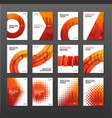 brochure cover design layout set for construction vector image vector image