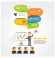business teamwork brainstorm with bubble speech vector image