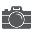 camera glyph icon travel and tourism photo sign vector image vector image