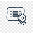 certificate concept linear icon isolated on vector image
