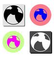children ball flat icon vector image