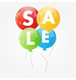 Color Glossy Balloons Sale Concept of Discount vector image vector image