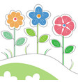 colored stylized flowers vector image vector image