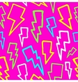 Colorful comic thunder bolts seamless vector image vector image