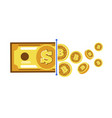 cryptocurrency conversion digital money vector image