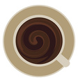 cup of coffee whirlpool vector image