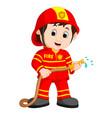 cute fireman cartoon vector image
