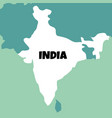 detailed map india vector image