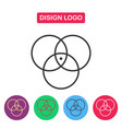 disign logo color circle vector image