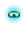 Diving mask icon comics style vector image vector image