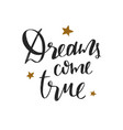 dreams come true christmas and new year vector image