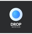 Drop logo template vector image