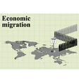 Economic migration world map vector image