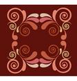 floral filigree motif vector image vector image