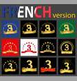 french set of number 3 templates vector image