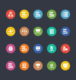 Glyphs Colored Icons 28 vector image