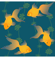 Gold fish seamless pattern vector image vector image