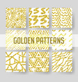 gold glitter seamless pattern set abstract vector image vector image