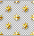 golden stars seamless pattern vector image vector image