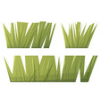 green grass in flat cartoon style vector image