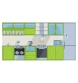Green Kitchen on a white background vector image