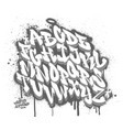 handwritten graffiti font alphabet on spray paint vector image vector image