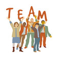 happy team group people isolate on white vector image vector image