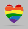heart peaces pride gay lgbt sign puzzle vector image