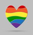 heart peaces pride gay lgbt sign puzzle vector image vector image