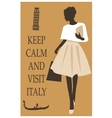 Italy travel card vector image vector image