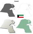 Kuwait outline map set vector image vector image