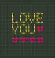 love you led display alphabhet flat design vector image vector image