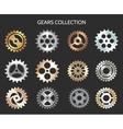 Metal gears or clock cogwheels icons vector image vector image