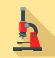 microscope icon flat style vector image vector image