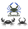 modern crab logo vector image vector image