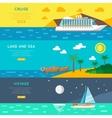 Nautical travel concept horizontal banners set vector image vector image