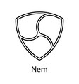 nem icon for internet money crypto currency vector image