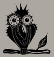 owl sits on a branch vector image vector image