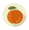 Peach flat icon with long shadow vector image vector image