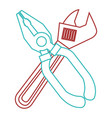 pliers and wrench tool equipment support vector image