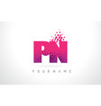 pn p n letter logo with pink purple color and vector image vector image