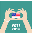 President election day 2016 Voting concept Hands vector image